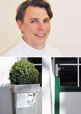 Zahnarzt Steffen Burat und Assistenzzahnärztin Nathalie Rust